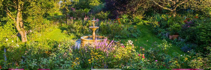 Brunnen im Rosengarten | Michaelshof Sammatz