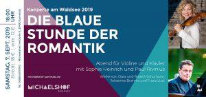 Ticket Waldseekonzerte am Michaelshof Sammatz - die blaue stunde der Romantik