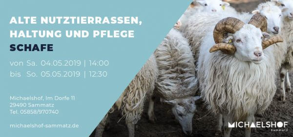 Michaelshof Seminar Haus der Natur Seminar Alte Nutztierrassen - Schafe