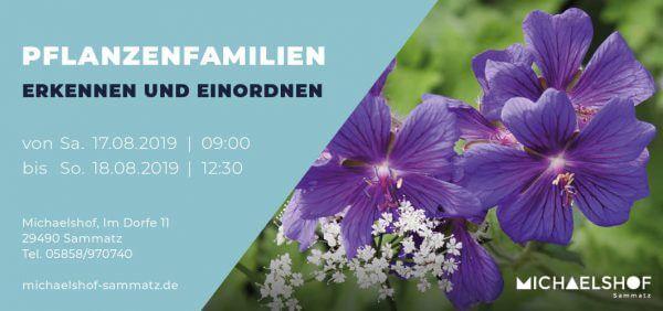 Michaelshof Seminar Haus der Natur Seminar Pflanzenfamilen erkennen und einordnen