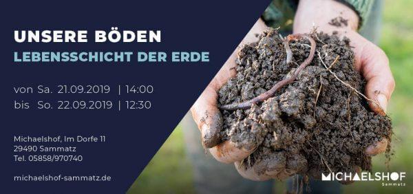 Michaelshof Seminar Haus der Natur Seminar Unsere Böden - Lebensschicht der Erde