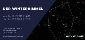 Michaelshof Seminar Haus der Natur Seminar Der Winterhimmel