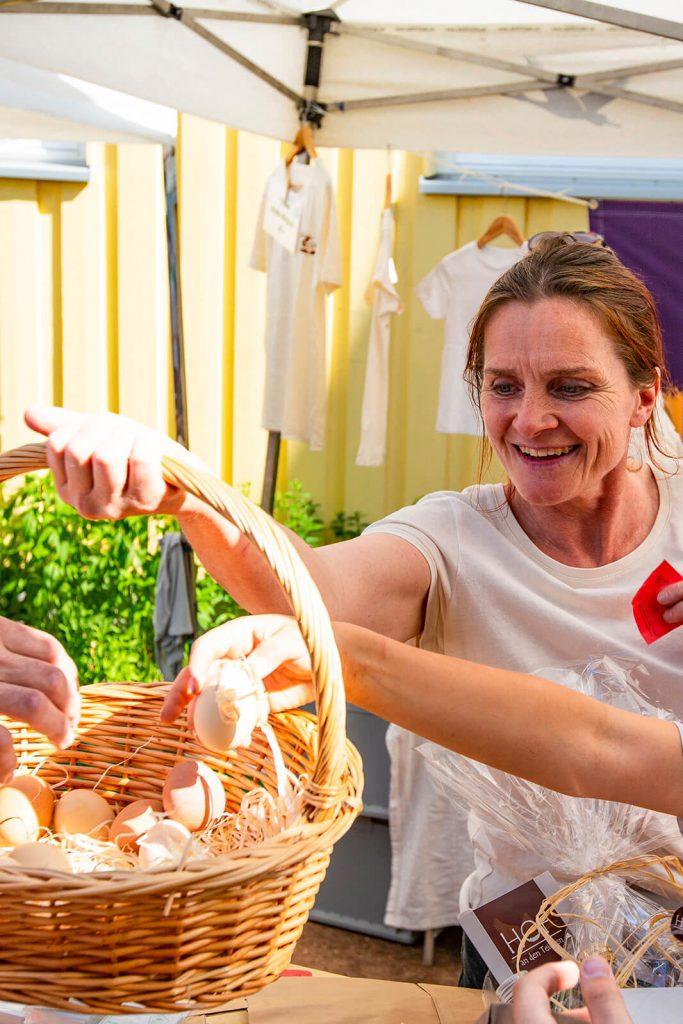 Michaelshof Sammatz Arche-Tag, Frische Eier aus der Region