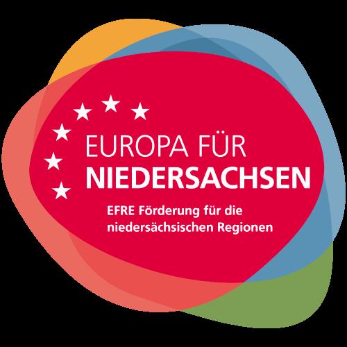 Logo Europa fuer Niedersachsen | EFRE Foerderung fuer die niedersaechsischen Regionen